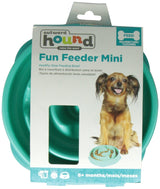 Outward Hound Fun Feeder Slow Feed Interactive Bloat Stop Dog Bowl - Small Teal