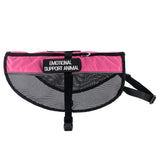 Emotional Support Animal Vest Pink Mesh Harness [Multiple Sizes] & 2-PACK Emotional Support Animal ID Tags - EliteFanCo