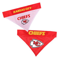 Kansas City Chiefs NFL Reversible Bandana (Home side & Away side) for Dog (2 Sizes Available)
