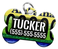 Alabama - Dog Tag for Pets Vintage License Plate Personalized Custom Pet Tag with Pets Name & Contact Number [Multiple Font Choices] [USA COMPANY]