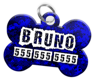 Digital Camo (Blue) Dog Tag for Pets Personalized Custom Pet Tag with Pets Name & Contact Number [Multiple Font Choices] [USA COMPANY] - EliteFanCo
