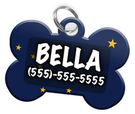 Alaska Flag - Dog Tag for Pets Personalized Custom Pet Tag with Pets Name & Contact Number [Multiple Font Choices] [USA COMPANY]