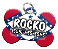Arkansas Flag - Dog Tag for Pets Personalized Custom Pet Tag with Pets Name & Contact Number [Multiple Font Choices] [USA COMPANY]