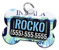 Indiana - Dog Tag for Pets Vintage License Plate Personalized Custom Pet Tag with Pets Name & Contact Number [Multiple Font Choices] [USA COMPANY]