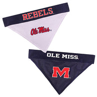 Ole Miss Rebels NCAA Reversible Bandana (Home side & Away side) for Dog (2 Sizes Available) | ElitePetFan.com