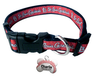 St. Louis Cardinals Baseball Dog or Cat Collar with FREE Personalized Dog Tag for Pets with Name & Number [Multiple Collar Sizes Avl: S,M,L]