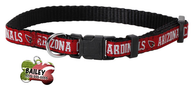 Arizona Cardinals Football Pet Dog or Cat Collar with FREE Personalized ID Dog Tag with Name & Number [Multiple Collar Sizes Avl: S,M,L] - EliteFanCo