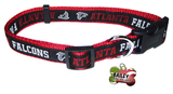 Atlanta Falcons Football Pet Dog or Cat Collar with FREE Personalized ID Dog Tag with Name & Number [Multiple Collar Sizes Avl: S,M,L] - EliteFanCo
