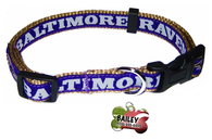 Baltimore Ravens Football Pet Dog or Cat Collar with FREE Personalized ID Dog Tag with Name & Number [Multiple Collar Sizes Avl: S,M,L] - EliteFanCo