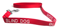 Dog Leash (Red) for Blind Dogs - Large (5 Foot) 100% Pure Nylon - EliteFanCo