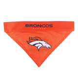 Denver Broncos NFL Reversible Bandana (Home side & Away side) for Dog (2 Sizes Available) - EliteFanCo