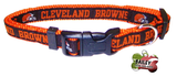 Cleveland Browns Football Pet Dog or Cat Collar with FREE Personalized ID Dog Tag with Name & Number [Multiple Collar Sizes Avl: S,M,L]