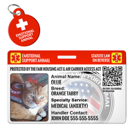 Emotional Support Animal Cat or Dog ESA ID Package [Includes HD Pet ID Wallet Card and Pet Tag] | ElitePetFan.com