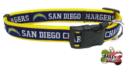 San Diego Chargers Football Pet Dog or Cat Collar with FREE Personalized ID Dog Tag with Name & Number [Multiple Collar Sizes Avl: S,M,L]