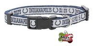 Indianapolis Colts Football Pet Dog or Cat Collar with FREE Personalized ID Dog Tag with Name & Number [Multiple Collar Sizes Avl: S,M,L]