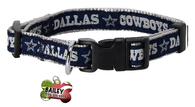 Dallas Cowboys Pet Dog or Cat Collar with FREE Personalized ID Dog Tag with Name & Number [Multiple Collar Sizes Avl: S,M,L] - EliteFanCo