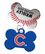 Chicago Cubs MLB Dog ID Tag (2 Pack) for Pet - Custom Personalization with Pets Name & Contact Number [Multiple Font Choices] - EliteFanCo