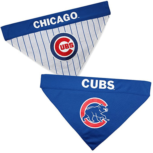 Chicago Cubs MLB Reversible Bandana (Home side & Away side) for Dog (2 Sizes Available) | ElitePetFan.com