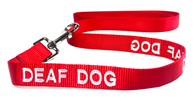 Dog Leash (Red) for Deaf Dogs - Large (5 Foot) 100% Pure Nylon | ElitePetFan.com