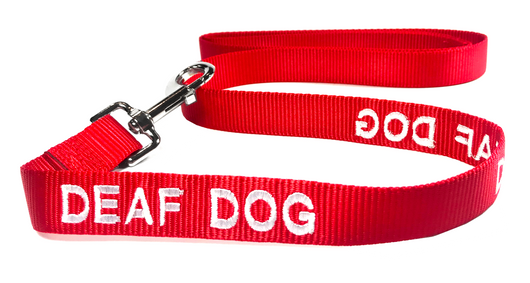 Dog Leash (Red) for Deaf Dogs - Large (5 Foot) 100% Pure Nylon - EliteFanCo