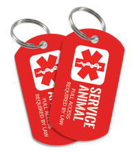 High Quality Service Dog ID Tag (2 Tags included) [Full Access Required by Law] - EliteFanCo
