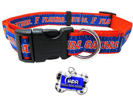 Florida Gators NCAA Pet Dog or Cat Collar with FREE Personalized ID Dog Tag with Name & Number [Multiple Collar Sizes Avl: S,M,L] | ElitePetFan.com
