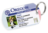 Oregon Driver License Custom Pet ID Tags - Dog or Cat ID Tag - Personalized - US Company