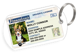 Pennsylvania Driver License Custom Pet ID Tags - Dog or Cat ID Tag - Personalized - US Company | ElitePetFan.com