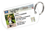 Wyoming Driver License Custom Pet ID Tags - Dog or Cat ID Tag - Personalized - US Company