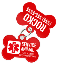 Service Dog Tag [Full Access Required by Law] with Personalized Custom Pet ID Tag with Pets Name & Contact Number [Multiple Font Choices]