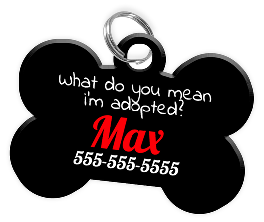 Funny Dog Tag for Pets Personalized Custom Pet Tag with Pets Name & Contact Number [Multiple Font Choices] [USA COMPANY] - EliteFanCo