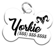 Aries Zodiac Sign Dog Tag for Pets Personalized Custom Pet Tag with Pets Name & Contact Number [Multiple Font Choices] [USA COMPANY] | ElitePetFan.com