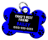 Boy's Best Friend Dog Tag for Pets Personalized Custom Pet Tag with Pets Name & Contact Number [Multiple Font Choices] [USA COMPANY]