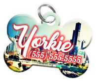 Chicago Dog Tag for Pets Personalized Custom Pet Tag with Pets Name & Contact Number [Multiple Font Choices] [USA COMPANY] - EliteFanCo
