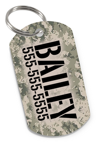 Camo (Classic) Dog Tag for Pets Personalized Custom Pet Tag with Pets Name & Contact Number [USA COMPANY]