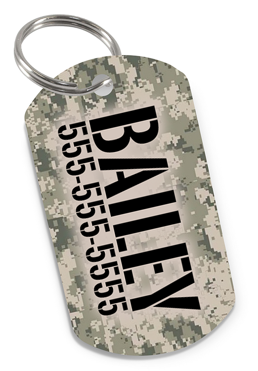Camo (Classic) Dog Tag for Pets Personalized Custom Pet Tag with Pets Name & Contact Number [USA COMPANY] - EliteFanCo