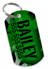 Camo (Green) Dog Tag for Pets Personalized Custom Pet Tag with Pets Name & Contact Number [USA COMPANY] - EliteFanCo