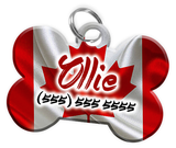 Canadian Flag Dog Tag for Pets Personalized Custom Pet Tag with Pets Name & Contact Number [Multiple Font Choices] [USA COMPANY]