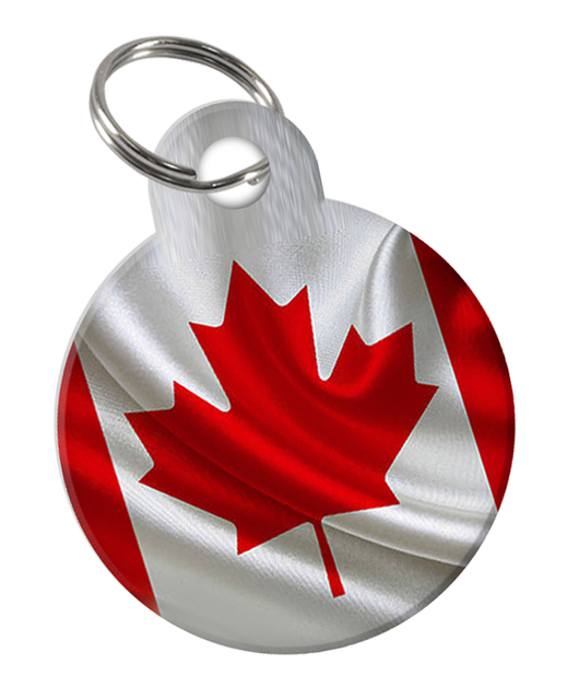 Canadian Flag Custom double-sided Dog Tag for Pets or Cat Tag with Personalized Pets Name & Contact Number on the back