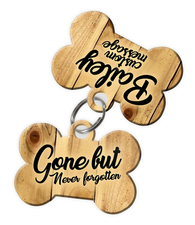 Pet Memorial Gifts - Dog Tag Set (comes with 2 tags) personalized custom pet tags to honor an old friend (USA Company)