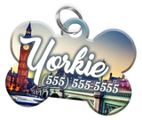 London Dog Tag for Pets Personalized Custom Pet Tag with Pets Name & Contact Number [Multiple Font Choices] [USA COMPANY]