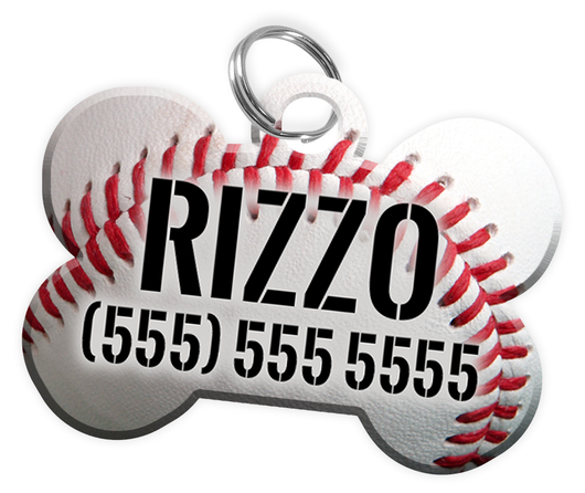 Chicago Cubs Themed Personalized Custom Pet Dog Tag with Pets Name & Contact Number - EliteFanCo