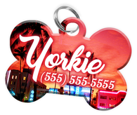 Miami Dog Tag for Pets Personalized Custom Pet Tag with Pets Name & Contact Number [Multiple Font Choices] [USA COMPANY]