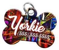 New York Dog Tag for Pets Personalized Custom Pet Tag with Pets Name & Contact Number [Multiple Font Choices] [USA COMPANY]