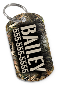 Camo Tree Dog Tag for Pets Personalized Custom Pet Tag with Pets Name & Contact Number [USA COMPANY]