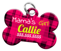 Mama's Girl Dog Tag for Pets Personalized Custom Pet Tag with Pets Name & Contact Number [Multiple Font Choices] [USA COMPANY]