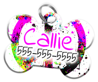 PEACE Dog Tag for Pets Personalized Custom Pet Tag with Pets Name & Contact Number [Multiple Font Choices] [USA COMPANY] | ElitePetFan.com