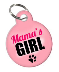 Mama's Girl Custom double-sided Dog Tag for Pets or Cat Tag with Personalized Pets Name & Contact Number on the back | ElitePetFan.com