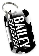 Camo Dog Tag for Pets Personalized Custom Pet Tag with Pets Name & Contact Number [USA COMPANY]