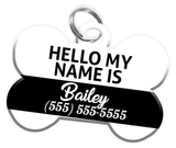 Name Tag Dog Tag for Pets Personalized Custom Pet Tag with Pets Name & Contact Number [Multiple Font Choices] [USA COMPANY] | ElitePetFan.com